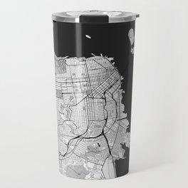 San Francisco Map Gray Travel Mug