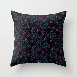 art of batik two Throw Pillow