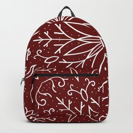 Single Snowflake - dark red Backpack