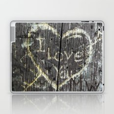 The Carving Tree - I Love You Laptop & iPad Skin