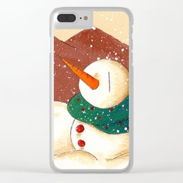 Snow by the Mountains Clear iPhone Case