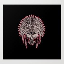 Skull cheaf Art Print