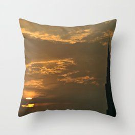 Dubai sunset Throw Pillow