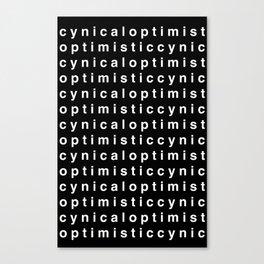 Cynic(al) Optimist(ic) - WHITE Canvas Print