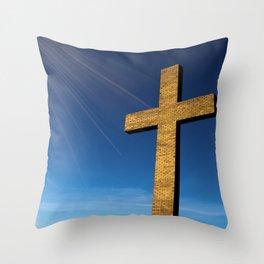 Heaven's Cross Throw Pillow