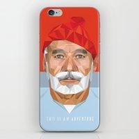 bill murray iPhone & iPod Skins featuring BILL MURRAY by Joemetric