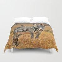 zebra Duvet Covers featuring Zebra by minx267