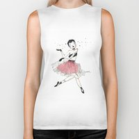 ballet Biker Tanks featuring Ballet by Ianah Maia