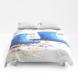 Wellies on the sand Comforters