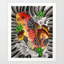 Fall Koi Art Print
