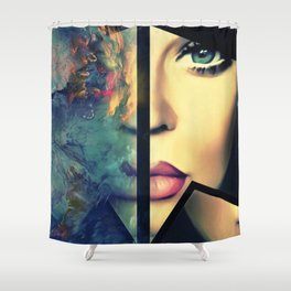 Divided Soul Shower Curtain