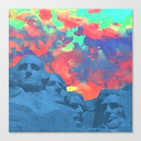rushmore Canvas Prints featuring Mt Rushmore by Calepotts