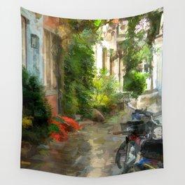 A neighborhood without cars - Bremen Schnoorviertel Wall Tapestry