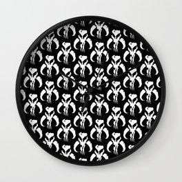 Mythosaur Skulls in Black and White Wall Clock