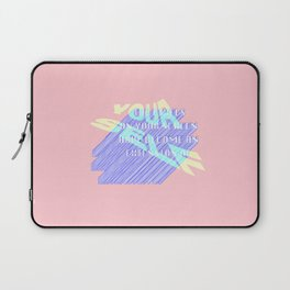 THE PIXELS ON YOUR SCREEN HAVE BECOME AN EXTENSION OF YOURSELF Laptop Sleeve