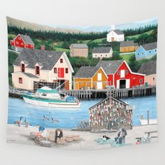 Fisherman's Cove Wall Tapestry