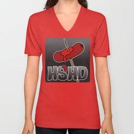 Horrorshow Hot Dog Logo - Cocktail Weenie variant Unisex V-Neck
