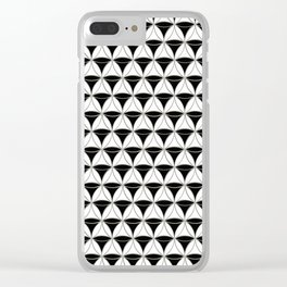 Cone Pattern Black-White Clear iPhone Case