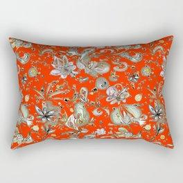 Tangerine Dream Floral Rectangular Pillow