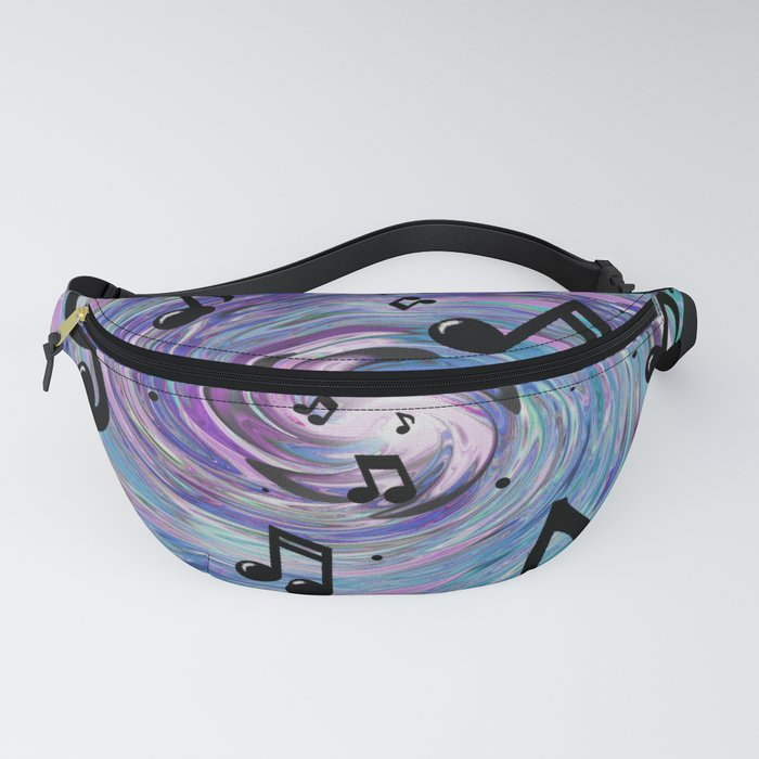 Musical Notes in Blue Fanny Pack