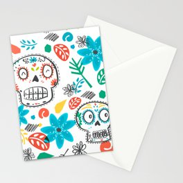 Summer sugar skulls Stationery Cards