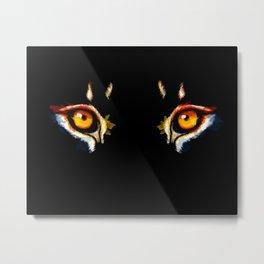 Lion Eyes Metal Print