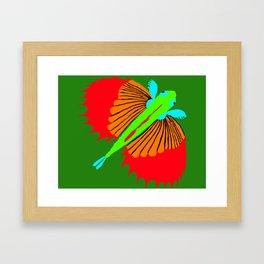 The Spectacular Flying Fish Framed Art Print