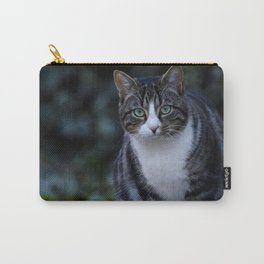 Green eyes cat Carry-All Pouch