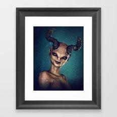 Female Demon Framed Art Print