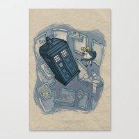 hallion Canvas Prints featuring Falling by Karen Hallion Illustrations