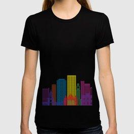 Rio de Janeiro V2 skyline pop T-shirt