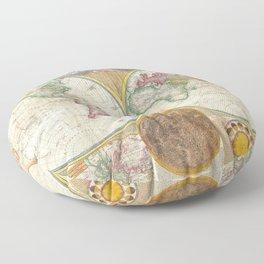 1794 Vintage World Map Samuel Dunn Floor Pillow