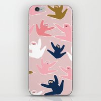 sloths iPhone & iPod Skins featuring Pattern with sloths by Darish
