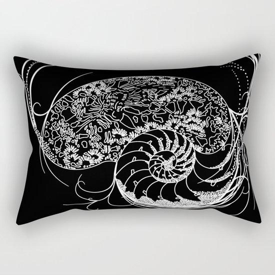 Black And White Shell Design Rectangular Pillow