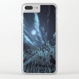Blue Madness Clear iPhone Case