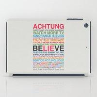 u2 iPad Cases featuring U2 ZOO TV  by avoid peril