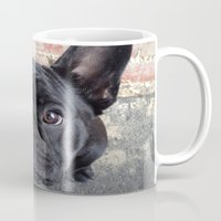 frenchie Mugs featuring Frenchie by Gabrielle Burns