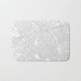 São Paulo, Brazil Minimalist Map Bath Mat