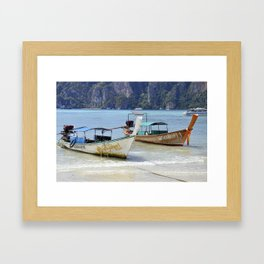 Long Tail Boats Framed Art Print