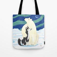 The Polar Bear and The Husky Tote Bag