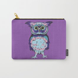 Small Purple Owl Carry-All Pouch