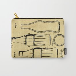 Bottle Support Patent Drawing From 1937 Carry-All Pouch