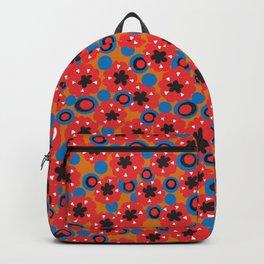 Retro 60s Flower Power Backpack