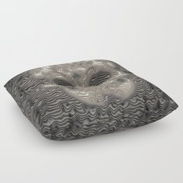 Stunning ribbed Skull Floor Pillow