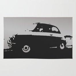 Fiat 500 classic, Gray on Black Rug
