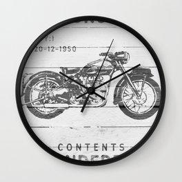 Vintage Triumph Thunderbird Motorcycle Wall Clock