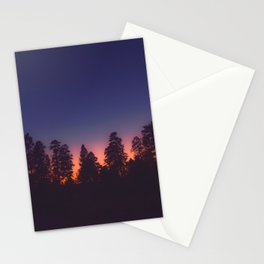TREES AT SUNSET Stationery Cards