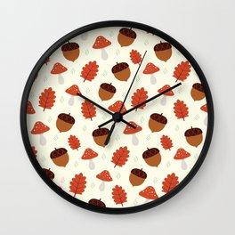 Autumn Treasures Wall Clock