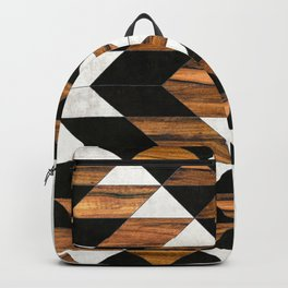Urban Tribal Pattern 9 - Aztec - Concrete and Wood Backpack