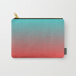 Cyan to red ombre flames Miami Sunset Carry-All Pouch